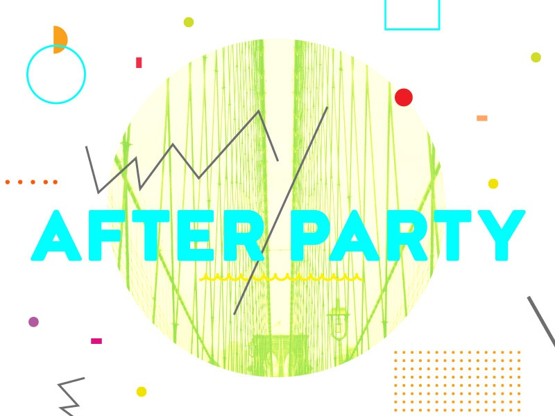After Party 1 abstract typography heaven youth sermon series church collage neon geometric confetti party