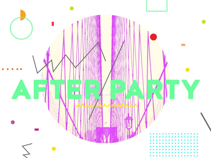 After Party 2 abstract typography heaven youth sermon series church collage neon geometric confetti party