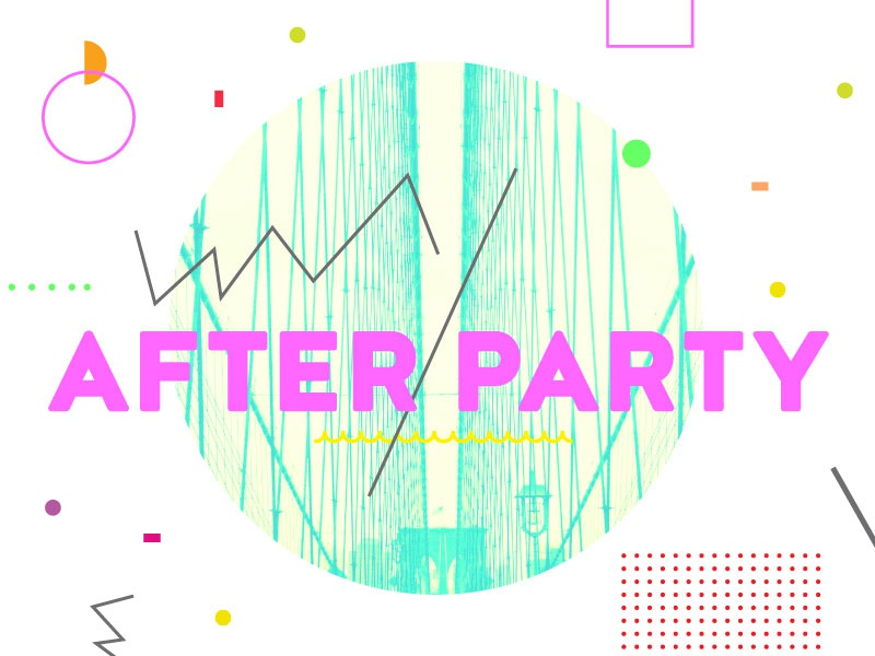 After Party 3 abstract typography heaven youth sermon series church collage neon geometric confetti party