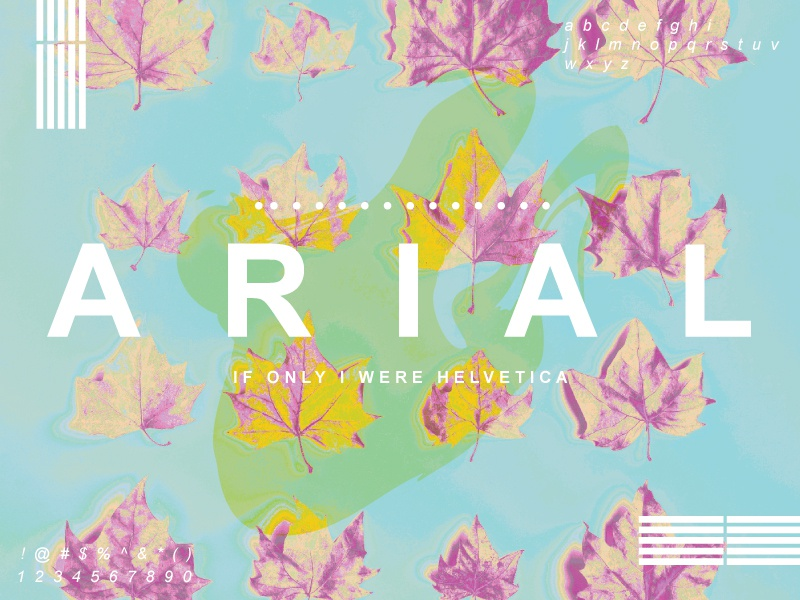 ARIAL autumn design arial neon bright fall leaves pattern typography
