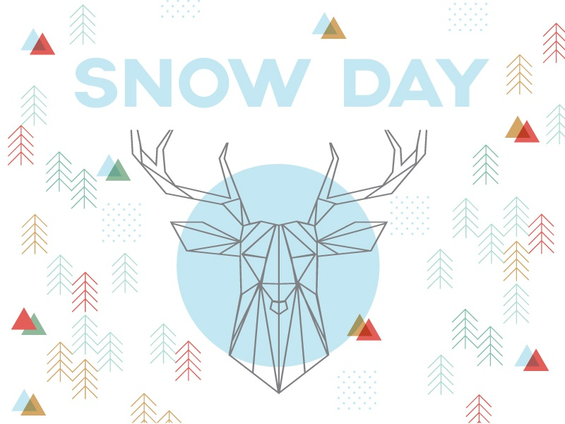 Snow Day church youth pattern triangles geometric christmas trees deer snow winter
