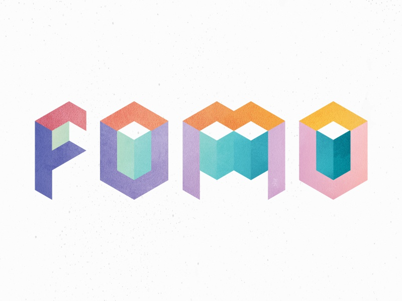 FOMO geometric colors texture layers typography series church new year resolutions january fomo