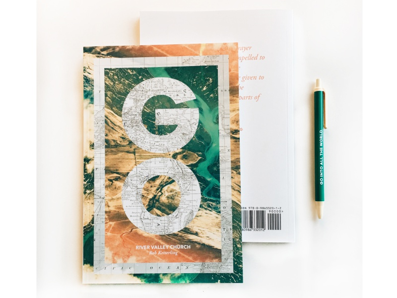 GO Book saturation map topography typography layout booklet church explore go book