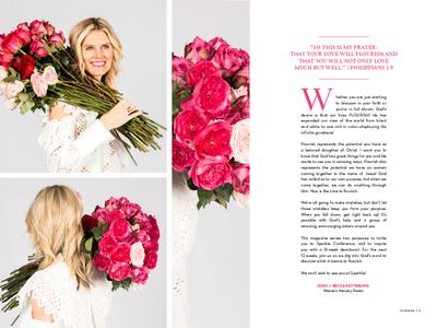 Flourish Magazine Spread