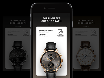 IWC prototype • Sketch Freebie watches iwc sketch parallax interface freebie flat app ux ui