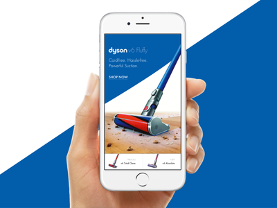 Dyson Fluffy iPhone Mockup mockup ecommerce ux ui sketch vacuums dyson interface flat app