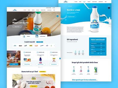 Parmalat Desktop Layout recipes milk nutrition restyling brands homepage slider hero product