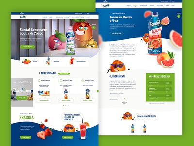 Santal Desktop Layout juice green desktop ux ui slider restyling recipes product nutrition homepage hero brand