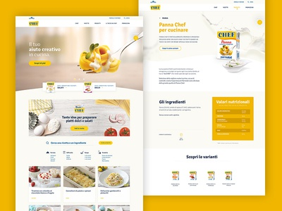 Chef Desktop Layout slider restyling recipes product nutrition homepage hero brand ux ui