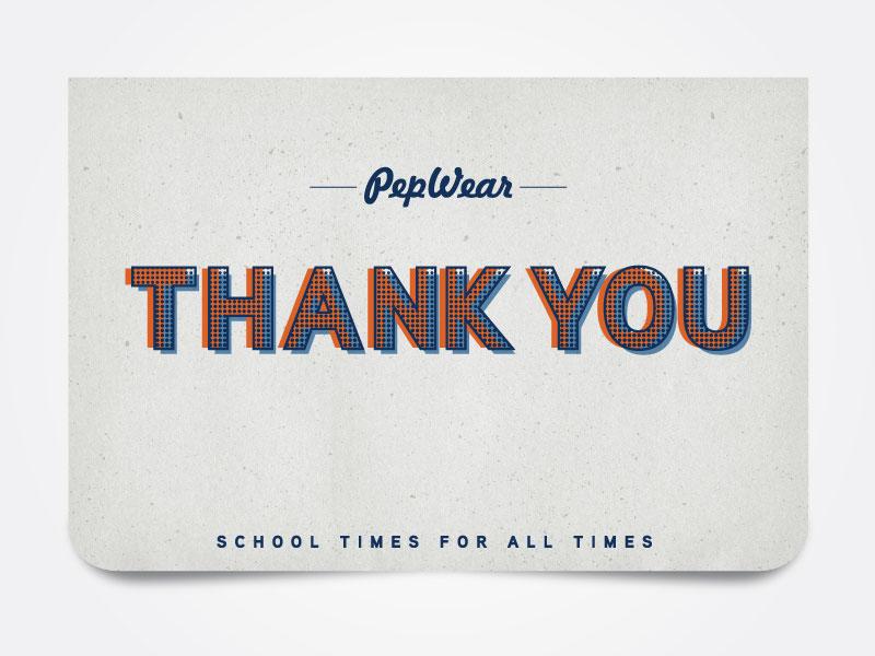 thank you card by paula viray dribbble
