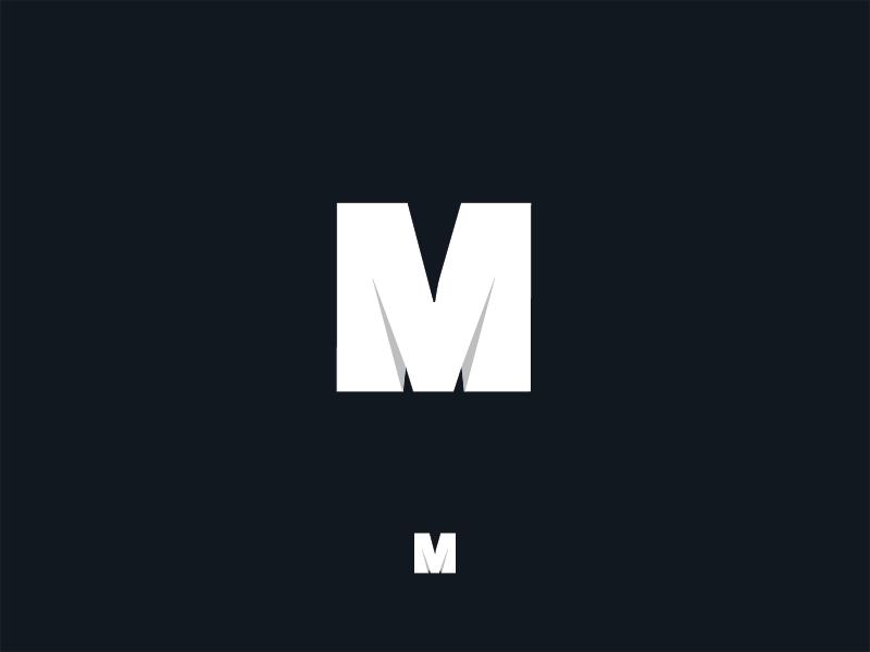 M alphabet illustration letter m identity mark typography type logo