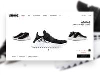 Shoe Product Page UI Concept