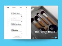 Beauty Blog Split Page