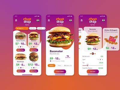 Chop Chop iPhone Screens app ux ui
