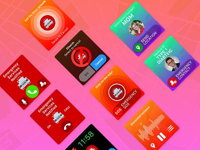 Safety Duo Apple Watch Screens smartwatch app ux ui