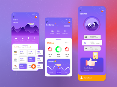 InControl Diabetes Lifestyle Tool diabetes apple iphone design app ux ui