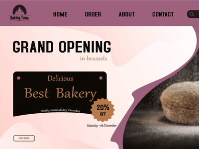 WEB DESIGN FOR BAKERY design minimal branding ui logo graphic design
