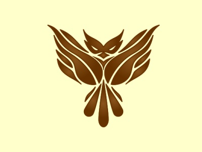 Owl Coffee bird combine logo design