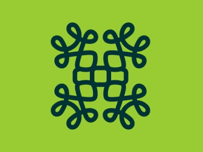 Letter H combine ornament letter object logo design