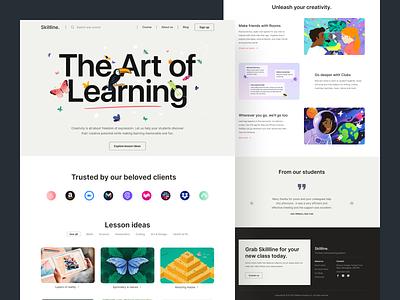 Skillline - E Learning Website Concept education knowledge e-learning typography figma design web design web ui website landingpage homepage ux design ui design uiux