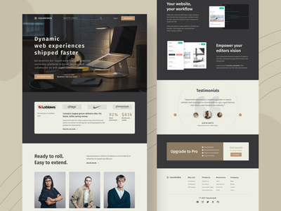 Squareweb - Saas Landing Page Concept design typography saas figma web design web ui website homepage landingpage ux design ui design uiux ux ui