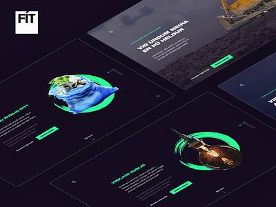 Hættum að urða - Award nominee webdesign responsive website trash uiux ui ux web design animation simple iceland typography web storytelling landing page green scroll hijack motion