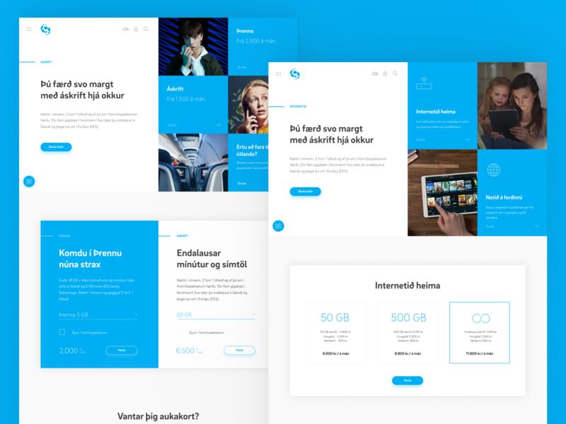 Síminn website jökulá síminn telecommunication navbar menu button mobile iceland web design design ux uiux ui