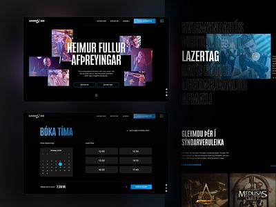 Smárabíó website typography uiux ux web design ui animation movement paralax webflow narrow styleguide cinema gradient brutalism vr experience