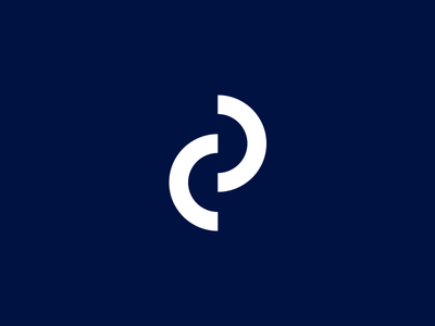 CP monogram type modern minimalistic hotel monogram logo
