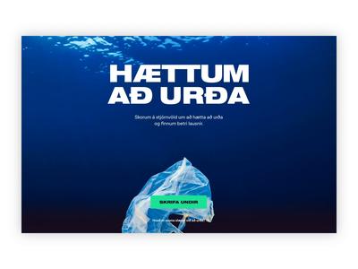 Find solutions - Animation design web design ux ui design ui trash story storytelling signup responsive parallax pollution plastic ocean jokula interaction design bury animation