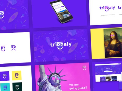 Trippaly emoji ux design ui design mobile jokula jökulá web design global liberty monalisa colorful smile logo uiux branding