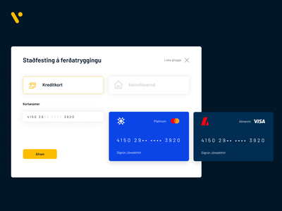 Credit card personalisation responsive ux ui ux travel settings web design ui design ui overview modal custom personal interaction select icon number credit insurance payment credit card