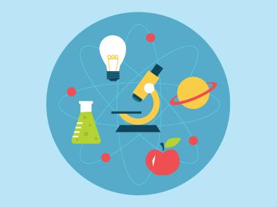 Science Fair Badge icons badge science light bulb flask saturn apple fair school microscope atom