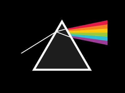 Light Prism light prism pink floyd rainbow color black triangle refraction dark side moon