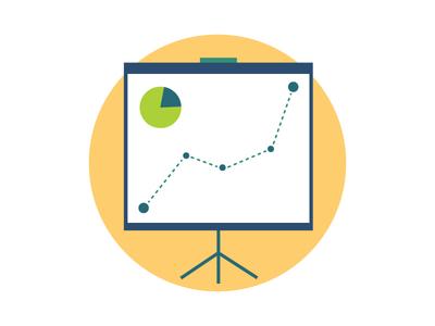 Analytics & Insights analytics insight flat badge icon chart pie graph data line points