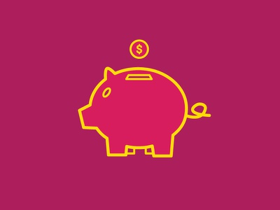 Piggy Bank piggy bank money outline simple coin investment savings finance fundraising