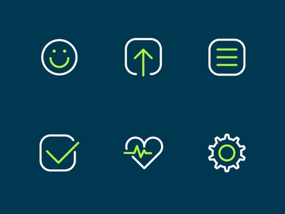 Health Dingbats icons dingbats health smile update notes requests heart medical settings