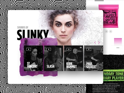 Sounds of Slinky Component ui ux anml webdesign product page guitar music