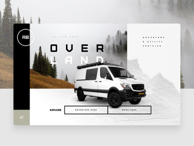 Overland 2 outside roadtrip travel webdesign nature van life adventure van