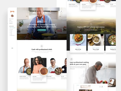 Yummly | Pro food app cooking app recipes cooking food and drink foodie yummly webdesign food web interaction ui anml