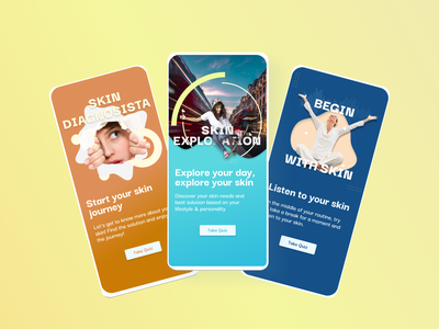 Beauty Quiz - Onboarding Page concept branding figma campaign beauty quiz product design design onboarding ux design ui design