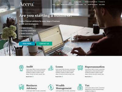 Accounting Website ux ui responsive website web company accounting