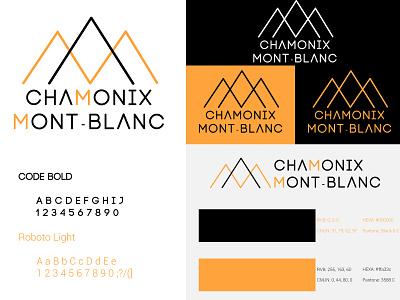 Chamonix Mont-Blanc - fictif rebrand branding mountain illustrator logotype logo brandidentity