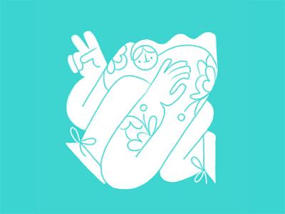 Twisted 03 ipad pro apple pencil tattoo hands peace women woman characterdesign character illustrator illustration