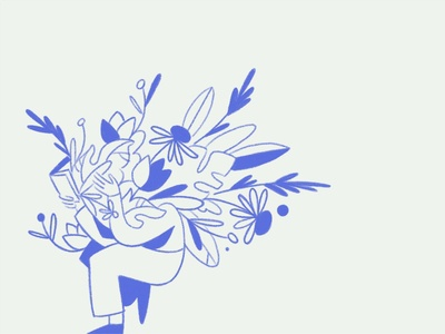 Reading gesture reading book plants flowers florals reading people figure drawing ipad pro apple pencil character illustration