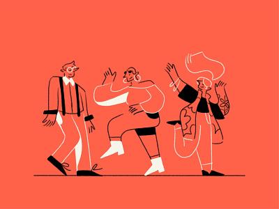 Gusto sketches — Tango dancers dancer expressive women man gesture brand illustration tech dance people hands drawing figure brand ipad pro apple pencil woman character illustration