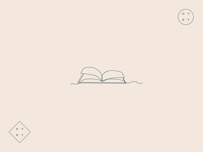 single line book logo single line book brand identity branding