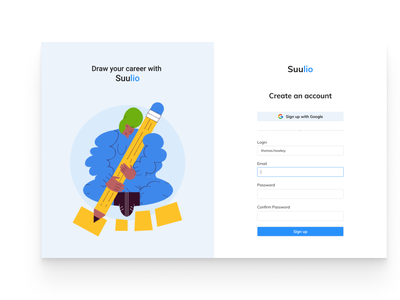 Sign Up Page Concept concept branding ui