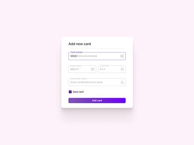 Credit Card Form information credit card form concept ui