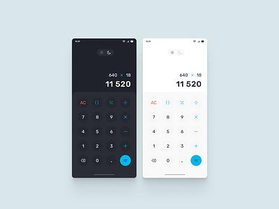 Mobile App Calculator design calculator app ui concept mobile